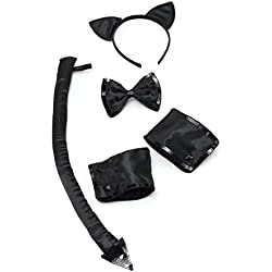 Conjunto de accesorios para disfraz de gato, talla única, marca Bristol Novelty (DS125)