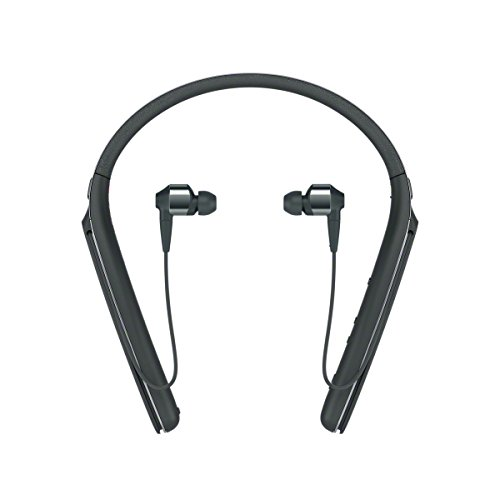 Sony WI1000X Cuffie In-Ear Stereo, Bluetooth, Digital Noise Cancelling con Microfono Integrato, Neck-Band, Compatibile con Amazon Alexa, Nero