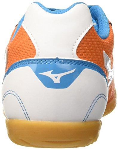Mizuno Herren Sala Club in Fußballschuhe Arancione (Vibrant Orange/White/Atomic Blue)
