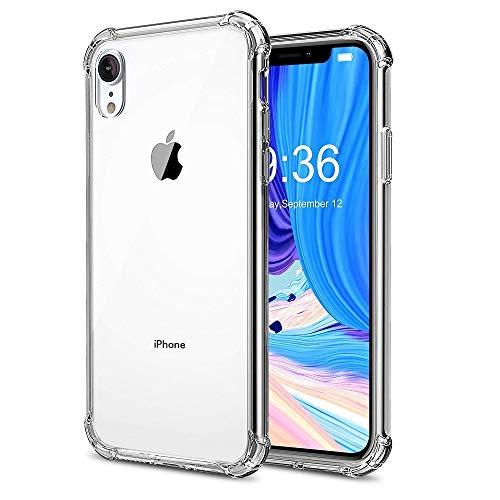 ELECTRÓNICA REY - Funda Anti-Shock Gel Transparente para iPhone XR, Ultra Fina 0,33mm, Esquinas Reforzadas, Silicona TPU de Alta Resistencia y Flexibilidad