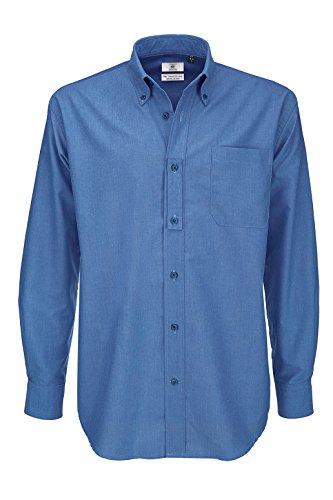 BCSMO01 Oxford Shirt Longsleeve Blue Chip