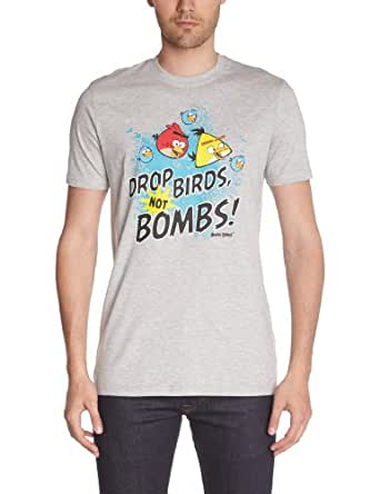 Angry Birds - t-shirt manches courtes - homme - gris (light grey melee) - s