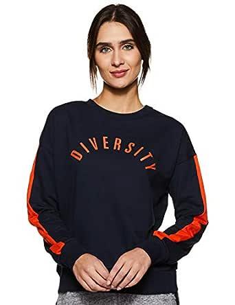 Amazon Brand - Symbol Women's Sweatshirt (AW18WNSSW34B_Iris Navy_X-Small)