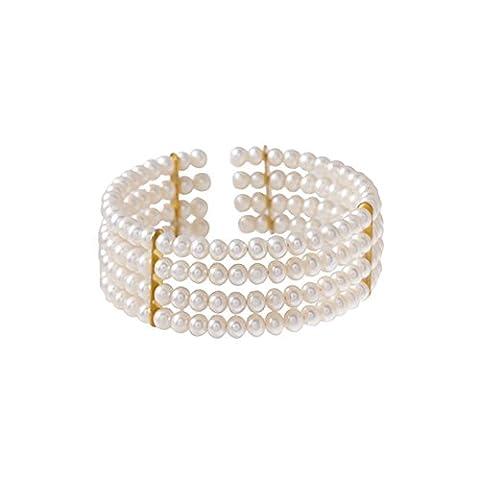 Bracelet Blue Pearls - Bracelet 4 rangs Perles de culture et