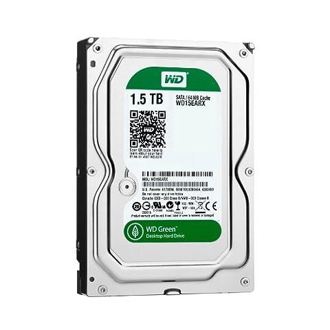 Western Digital WD15EARX Green 1.5TB interne Festplatte (8,9 cm (3,5 Zoll), 5400 rpm, 64MB Cache,