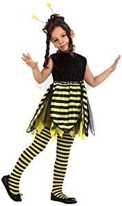 Atosa-12202 Disfraz Abeja, color negro, 7 a 9 años (12202)