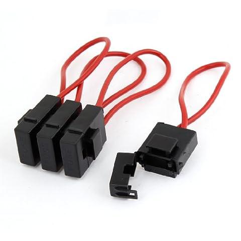 Lot de 4voiture Audio Inline Porte-fusible à