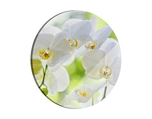 Klebefieber Glas-Schneidebrett Schneeweiße Orchidee B x H: 30cm x 30cm
