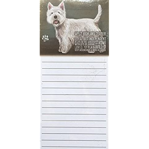 West Highland Terrier magnetica Note Memo Pad–Loyal ma (Highland House)