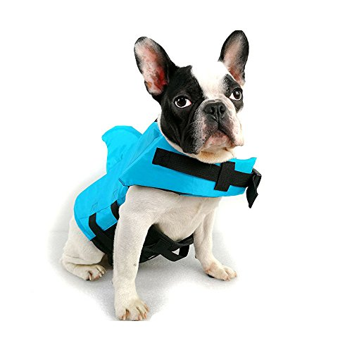 FONLAM Chaleco Salvavidas para Mascotas Chaqueta Chaleco de Seguridad Perro Perrito Ajustable...