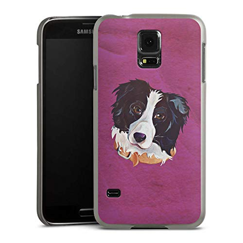 DeinDesign Hülle kompatibel mit Samsung Galaxy S5 Handyhülle Case Border Collie Dog Hund