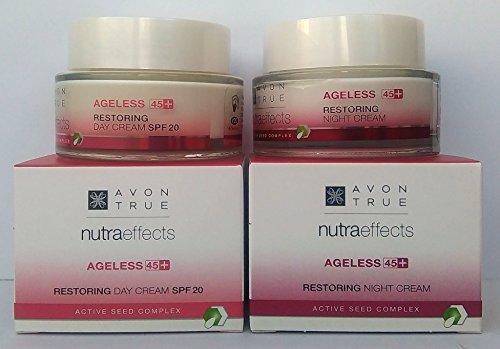 AVON True Nutraeffects Ageless 45+ : Tagescreme LSF 20 + Nachtcreme SET !
