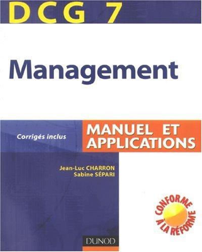 Management DCG7 : Manuel et applications