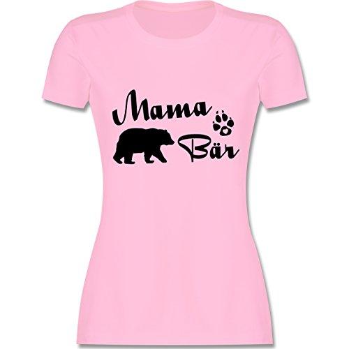 Shirtracer Muttertag - Mama Bär Lettering - Damen T-Shirt Rundhals Rosa