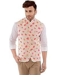03550f8d038 Cenizas Casual Multicolor Nehru Jacket Neck Waistcoat for Men Slim fit