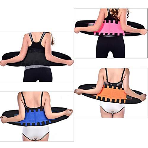 SqSYqz Sportschutzausrüstung Tauchmaterial Sbr Gürtel Schwitzen Kniebeugen Kraftunterstützung Fitness Gewichtheben Gürtel,Pink,M