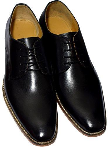 HideWise LONDON - Zapatos de cordones para hombre negro negro, color negro, talla 45 EU