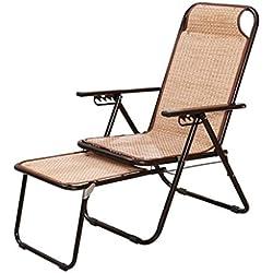 Sedie a sdraio Sedia da Salotto Pieghevole Lunch Break Nap Balcone Sedia da Giardino Sedia Estiva per Adulti Sedia Reclinabile Terrazza Sedia da Esterno Sedia da The Sun Lounger