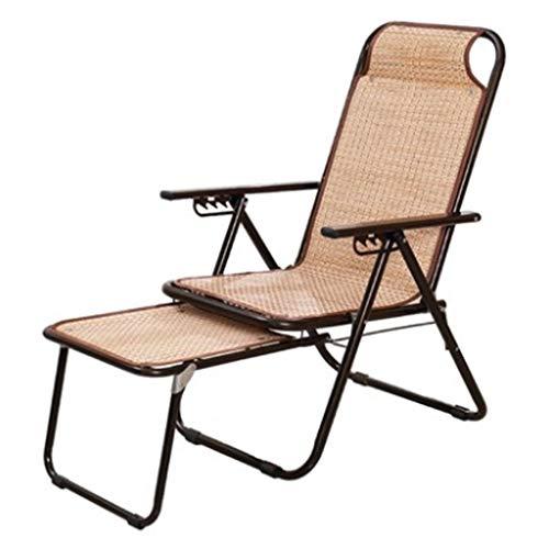 Fauteuils inclinables Fauteuil Pliant Balcon Déjeuner Balcon Chaise En Bambou Chaise D'été Pour Adulte Fauteuil Inclinable Terrasse Chaise Longue En Plein Air (Color : Black, Size : 67x40x38cm)