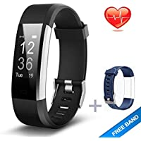 Lintelek, Fitness Tracker HR, Activity Tracker Watch Heart Rate Monitor, Waterproof Smart Fitness Band Step Counter, Calorie Counter, Pedometer Watch Kids Women Men