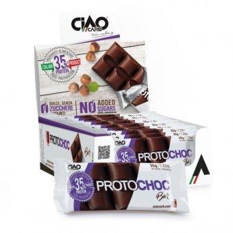 Protochoc - ciao carb - tavolette di cioccolato proteico 35% proteine - 35 gr
