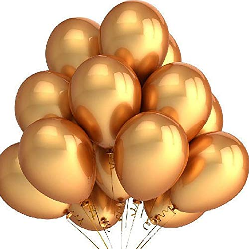 s - 100pcs Gold Balloons 12 Inch Wedding Happy Birthday Party Decoration Latex - Diamond Decor Gold Gold Coral Paper Ironman Baby Jewelri Bait Accessories Balloon Star ()