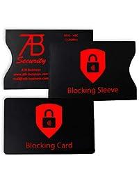 Kreditkartenschutz Set für gesamte Geldbörse - NFC Schutz - RFID Schutz - NFC Schutzkarte (1) + RFID Schutzhülle (2) - NFC Schutzhülle RFID Blocker