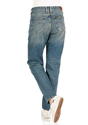 Lee Damen Jeans Mom - Straight Fit - Blau - Dusk Vintage, Größe:W 25 L 31, Farbe:Dusk Vintage (at) -