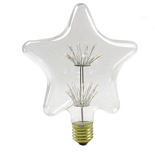 xinrong Retro Pentagram LED lampadina Edison e27220V 2W lampadina a risparmio energetico bianco caldo 2300K fuochi d' artificio vacanza Festival decorazione per la casa