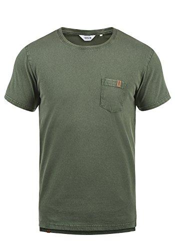 !Solid Jack Herren T-Shirt Kurzarm Shirt mit Rundhalsausschnitt aus 100% Baumwolle, Größe:XL, Farbe:Climb Ivy (3785)