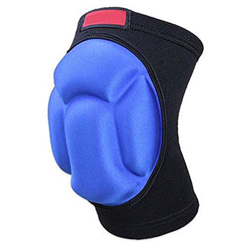 MLpus Dicke Sponge Knieschützer für Männer und Frauen Outdoor Sports Knie Volleyball Klettern Knieschoner (Farbe : Blau)