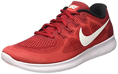 Nike Herren Free Run 2017 Laufschuhe, Rot (Game Red/Off White/Track Red), 42 EU
