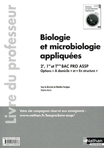 Biologie et microbiologie appliquées - Livre du professeur