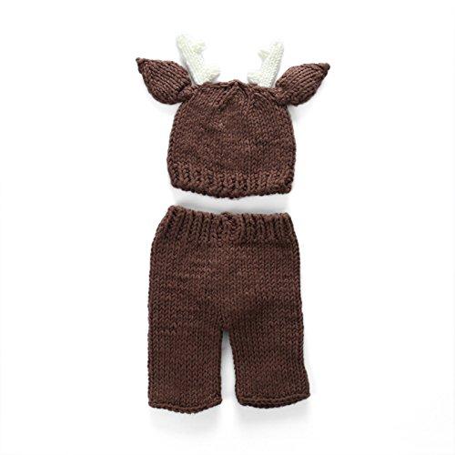 aierwish Baby Fotografie Foto Neugeborene Baby Braune Hirsche Design Hut Kostüm Hüte