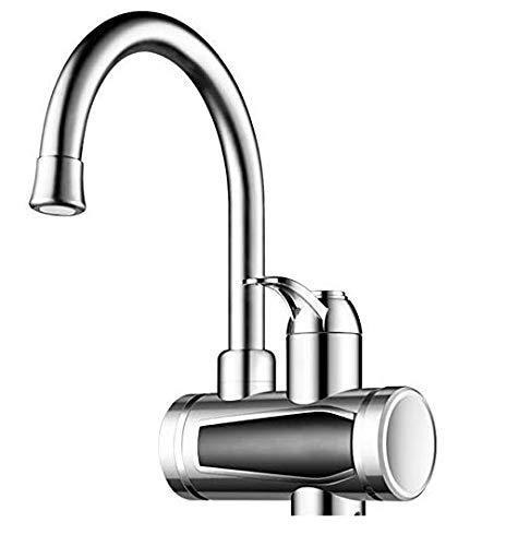 Schnelle Elektrische Warmwasserbereiter LED Temperaturanzeige Heizung Wasserhahn für Küche und Bad (Edelstahl)