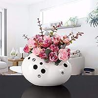 JRFBA-Decoraciones del hogar Creative Cascada Piedra Salon arreglo de Flor de cerámica florero Moderno