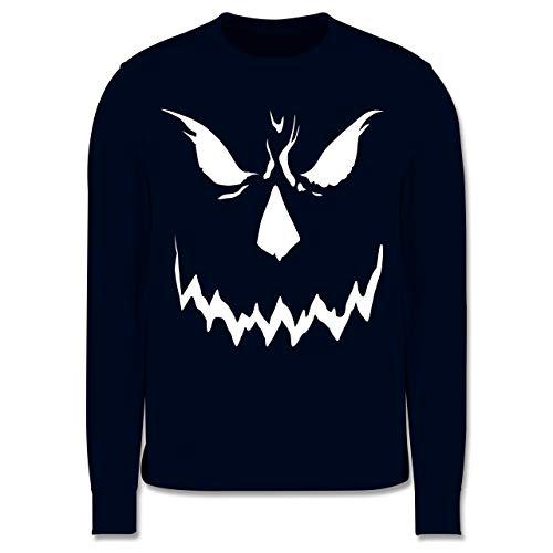 Shirtracer Anlässe Kinder - Scary Smile Halloween Kostüm - 12-13 Jahre (152) - Navy Blau - JH030K - Kinder Pullover