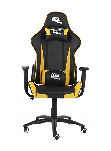 1337 Industries Silla GC757SP/BY – Negra Amarilla (Amarilla)