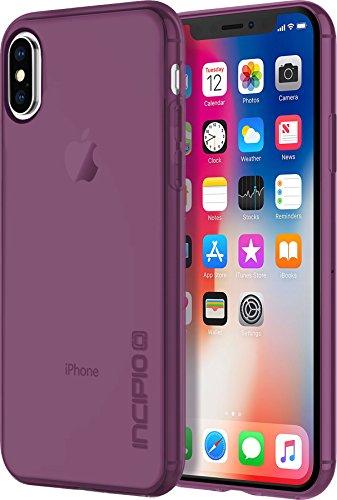 Incipio NGP Pure Case Schutzhülle für Apple iPhone Xs / X - transparent/lila [Qi kompatibel/Stoßfest/Reißfest/Flexibel/Transparent] - IPH-1630-PLM