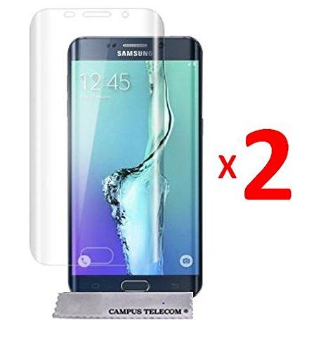 2 Films Vitre Verre Trempé de protection écran pour Samsung Galaxy S6 EDGE côtés Arrondis by D&C®