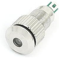 DC 24V LED indicador de la lámpara de señal de 8 mm Rosca Dia luz verde