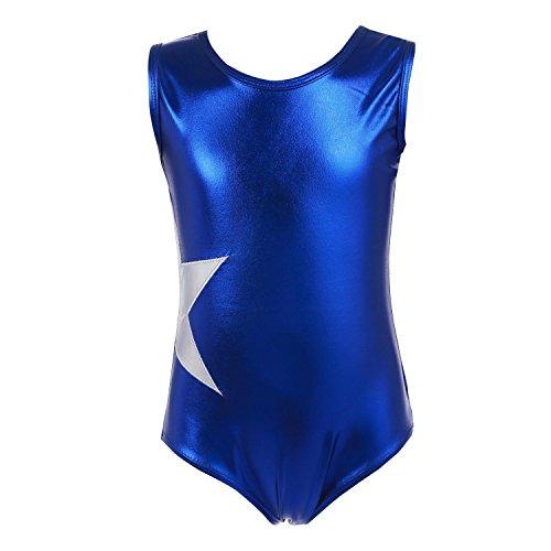 swiftt Kinder Ballettanzug Balletbody Turnanzug Ballett Trikot Ballett Gymnastik wetlook einteiler Body Bodysuit Pink Schwarz Hellblau Gr.100-160