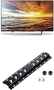 Sony KDL-32WD755 80 cm (32 Zoll) Fernseher (Full HD, HD Triple Tuner, Smart-TV) silber + Wandhalterung für Bra