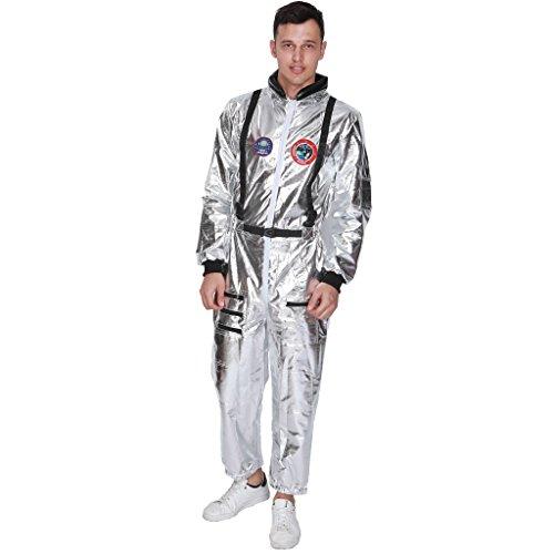 EraSpooky Herren Astronaut Raumfahrer Kostüm Faschingskostüme Cosplay - Halloween Party Karneval Fastnacht Kleidung für Männer