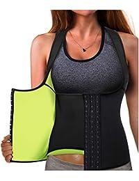 ed02fd447a23 Gotoly Waist Trainer Corset Hot Neoprene Sweat Vest Weight Loss Body Shaper  Workout Tank Tops Women