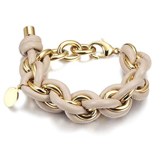 WISTIC Damen Armband mit Funkeln Kristall Armreif Verstellbar Geburtstag Geschenk Schwarz Silber Gold Rosegold - Schmuck Große