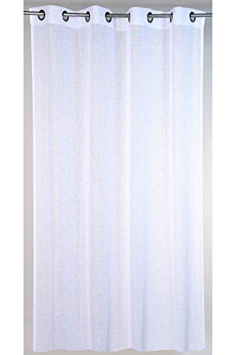 Linder 0169/10/375FR Uni Naturel Rideau à Œillets Polyester Blanc 150 x 240 cm