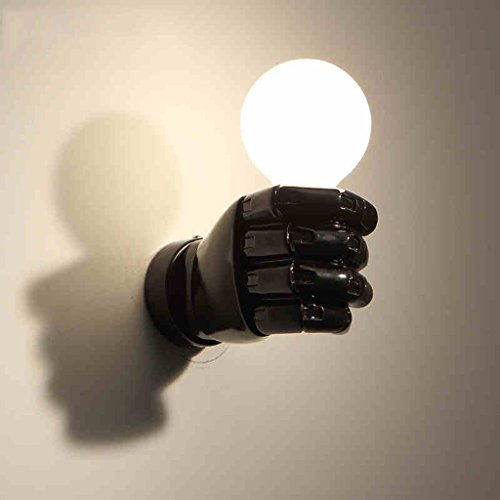 Lampada da parete Pugno Corridoio Camera Lampada da comodino Lampada da parete Soggiorno Scala lampada ( colore : Nero )