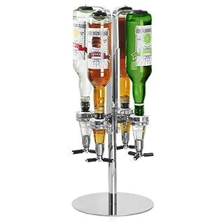 Home Ensemble de cocktail avec livre de recettes par Bar @ drinkstuff Kit de fabrication de cocktail dans une boîte cadeau recyclable avec Boston Shaker à cocktail en étain et verre, livre de recettes, passoire, pilon, cuillère torsadée, 25ml & 50ml Barre de dé à coudre sur mesure