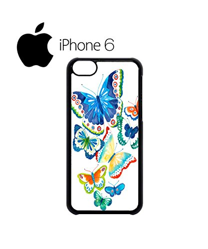 Butterfly Colourful Art Drawing Swag Mobile Phone Case Back Cover Hülle Weiß Schwarz for iPhone 6 White Schwarz